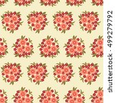Cute Seamless Pattern With Man...