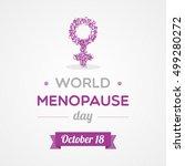 world menopause day | Shutterstock .eps vector #499280272