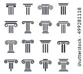 ancient columns vector icon set.... | Shutterstock .eps vector #499281118