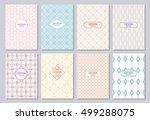 set of poster  flyer  posters ... | Shutterstock .eps vector #499288075