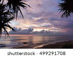 sunset at batu bolong beach in... | Shutterstock . vector #499291708