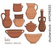 Rustic Ceramic Utensils ...
