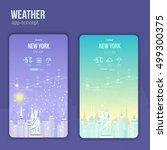 weather application on a mobile ...