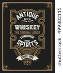 old  label design for whiskey... | Shutterstock .eps vector #499302115