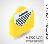 isometric icon. message