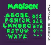 creative comic font. alphabet... | Shutterstock .eps vector #499303912