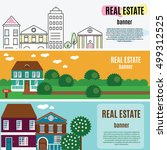 real estate horizontal banners. ... | Shutterstock .eps vector #499312525