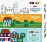 real estate horizontal banners. ... | Shutterstock .eps vector #499312525