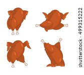 fried turkey different poses.... | Shutterstock .eps vector #499315222