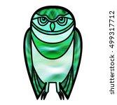 Green Burrowing Owl Drawn In...