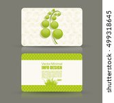 card set eco design  organic... | Shutterstock .eps vector #499318645