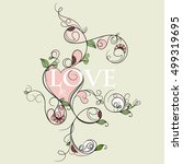 invitation card with heart | Shutterstock .eps vector #499319695