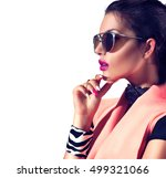 beauty fashion model girl with... | Shutterstock . vector #499321066