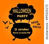 halloween. silhouette of the...   Shutterstock .eps vector #499323172