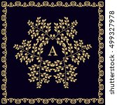 elegant floral monogram design...   Shutterstock .eps vector #499327978