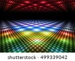 abstract colorful dance floor... | Shutterstock . vector #499339042
