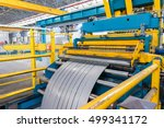 cold rolled steel coil on... | Shutterstock . vector #499341172