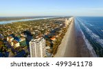 Beautiful aerial view of Daytona Beach on a sunny day, FL.