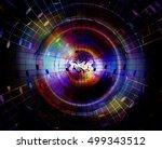 audio music speaker in space.... | Shutterstock . vector #499343512