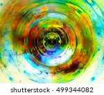 cosmic space and stars  color... | Shutterstock . vector #499344082