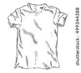 t shirt sketch vector... | Shutterstock .eps vector #499344388
