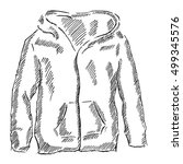 men's hooded sweat shirt with... | Shutterstock .eps vector #499345576