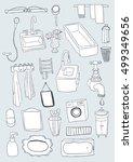 bathroom objects | Shutterstock .eps vector #499349656