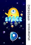cartoon space vector start page ...
