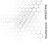 chemistry 3d pattern  hexagonal ... | Shutterstock .eps vector #499357996