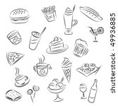 food and drinks | Shutterstock .eps vector #49936885