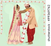 indian wedding. traditional... | Shutterstock .eps vector #499369762