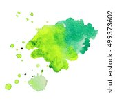 expressive abstract watercolor... | Shutterstock .eps vector #499373602