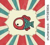 fish icon eps10 vector eps jpg... | Shutterstock .eps vector #499385806