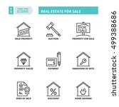 flat symbols about real estate... | Shutterstock .eps vector #499388686