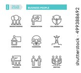 flat symbols about business... | Shutterstock .eps vector #499388692