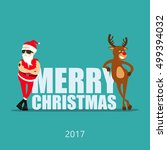 merry christmas  cartoon... | Shutterstock .eps vector #499394032