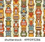 vector seamless pattern of... | Shutterstock .eps vector #499395286