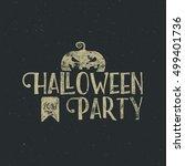 halloween 2016 party label... | Shutterstock . vector #499401736