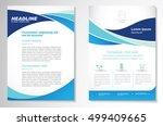 vector brochure flyer design... | Shutterstock .eps vector #499409665