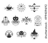 blackhalloween vector badges... | Shutterstock .eps vector #499409692
