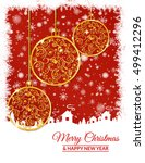 illustration. gold christmas... | Shutterstock . vector #499412296