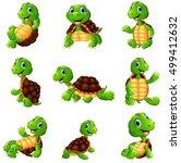 happy turtle cartoon collection ... | Shutterstock . vector #499412632