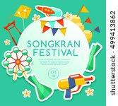 songkran festival   thai water... | Shutterstock .eps vector #499413862