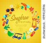 songkran festival   thai water... | Shutterstock .eps vector #499413946