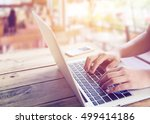 side view shot of beautiful...   Shutterstock . vector #499414186