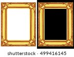 it is two golden frames... | Shutterstock . vector #499416145