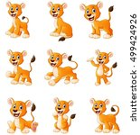 vector illustration of  lion...   Shutterstock .eps vector #499424926
