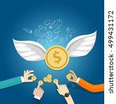 angel investor money fund... | Shutterstock .eps vector #499431172