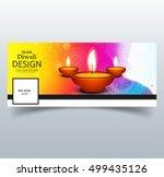 abstarct happy diwali cover | Shutterstock .eps vector #499435126