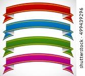 3d banners in 4 deep colors | Shutterstock .eps vector #499439296